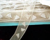 3 yds. of Antique 1910 silk two tone lace triangles(28506)
