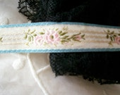 1 yd. of Pastel french ribbon trim of rayon very fine quality