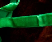 "2 yds. of gorgeous jewel emerald velvet rayon 1/2"" vintage ribbon,more avail."