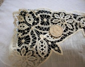 Gorgeous wedding hankie of handmade lace 19th century perfection
