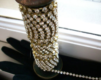 1 foot of vintage crystal rhinestone chain, more avail.
