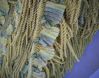 Very RARE 1 yd. antique french ribbonwork fringe 1920s  Yardage