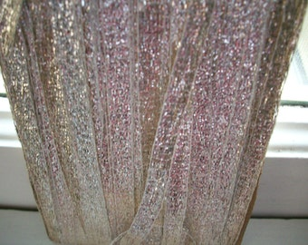 """2 yds. 8"""" vintage french silver ribbon trim 1/4"""" wide, more avail."""