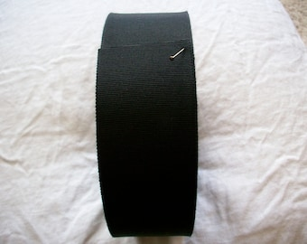 1 1/2 inch petersham ribbon in black or  white