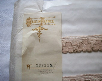 cafe au lait two-tone french alencon cotton lace trim
