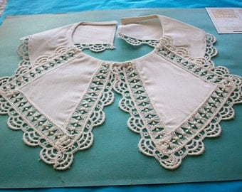Vintage lace collar of pique with darling trim 1920s