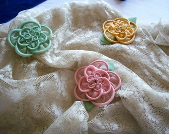 Beautiful silk or cotton organdy ribbon work  authentic 1920s