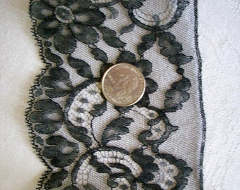 1 yd. of French pure silk lace from the Paris flea market with original tags