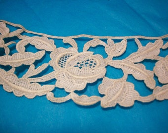 Antique lace salesman's sample circular with roses