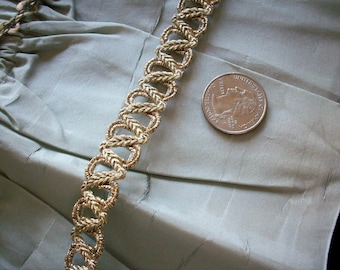 vintage gold metallic trim, more avail.