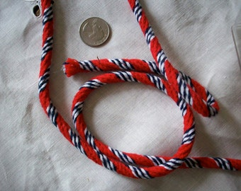 Vintage red ,white, and navy blue cording trim