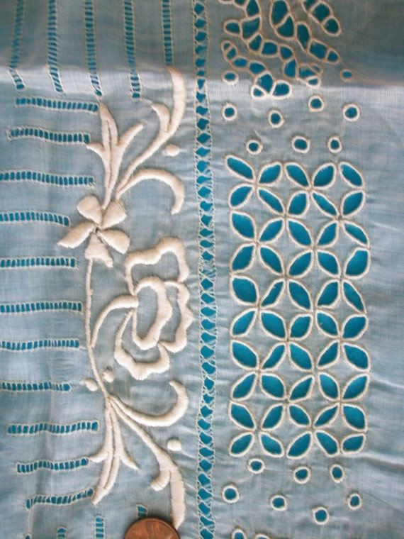 Antique french hand embroidered salesmans lacey sample
