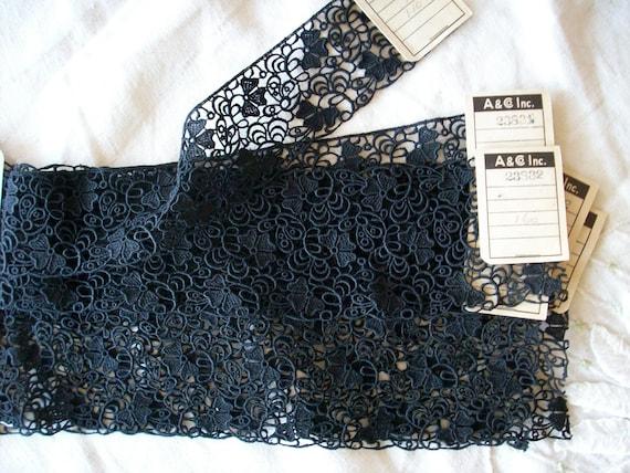 Antique black lace salesman's sample of  3 matching pieces