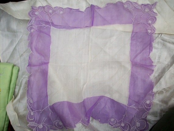 1920s silk hanky with beautiful embroidery
