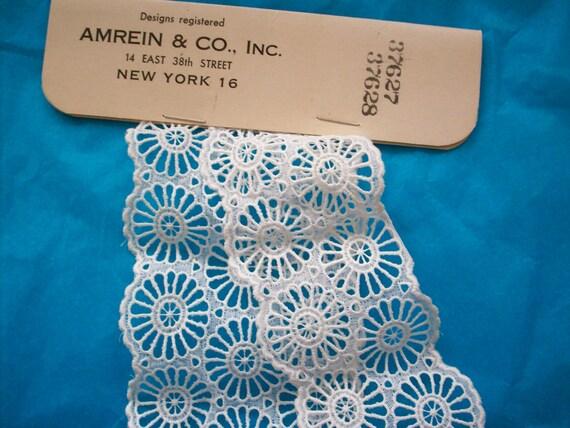 set of 2 Antique salesman's samples of enbroidered organdy
