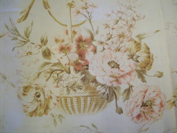 Antique french fabric cotton or linen 1880s to 1920s
