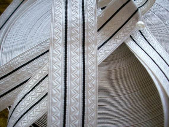 2 yards Vintage french military silver trim, more avail.