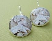 Greek Goddess Sterling Silver plated Earrings