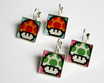 Nintendo Mushroom Earrings
