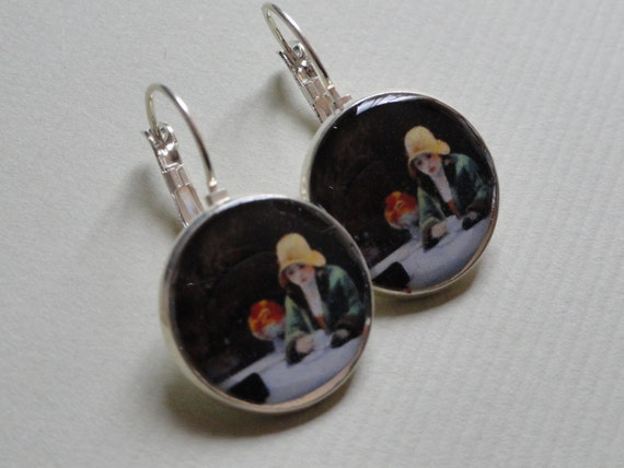 Edward Hopper Automat Art History Earrings