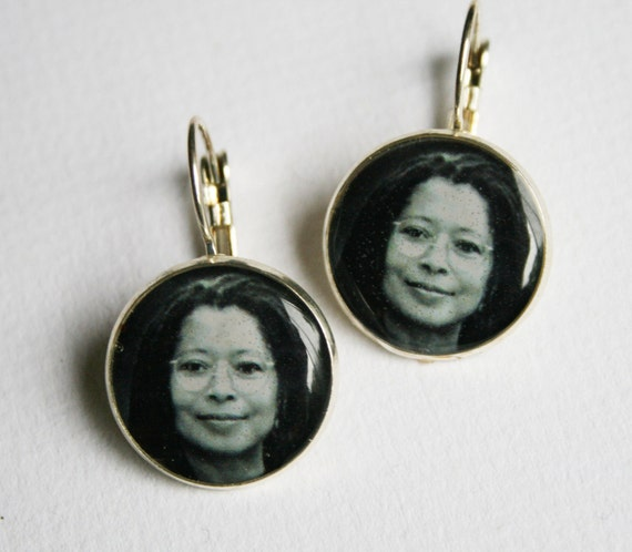 American Author Alice Walker Sterling Silver plated Earrings