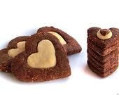 Chocolate Hazelnut Heart Cookies, 1/2 lb