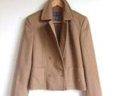 vintage 1990's Calvin KLEIN wool and cashmere double breasted coat