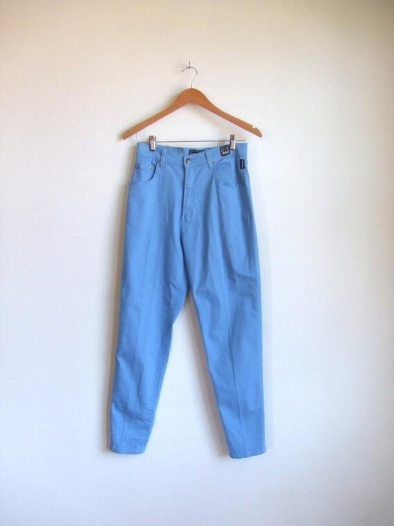 Vintage 1980's VERSACE couture 'blue' blue jeans