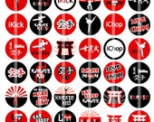 Karate Kid  - 1 Inch Round - Digital Collage Sheet for making Bottle Cap Pendants, Hair bow Centers, badge reels, cupcake toppers, etc.