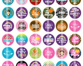 Daddy's Girl - 1 Inch Round - Digital Collage Sheet Bottle Cap Pendants, Hair bow Centers,  Scrapbook embellishments, etc.