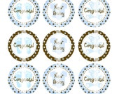 Editable  4x6 JPEG - Baby Boy - 1 inch Round Digital images for bottle cap pendants, cupcake toppers, badges, magnets, etc.