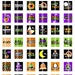 Happy Halloween - .75x.83 scrabble tile size - Digital Collage Sheet for making  Pendants, Magnets, Scrapbook embellishments, etc.