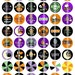 Halloween Sweetie - 1 Inch Round - Digital Collage Sheet for making Bottle Cap Pendants, Hair bow Centers, Cupcake toppers, etc.
