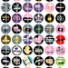 Movie Love - 1 inch Round - Digital Collage Sheet for Bottle Cap Pendants, Hair Bow Centers,and more