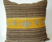Sukan / Hand Woven - Turkish Patchwork Kilim Pillow Cover - 24x24