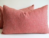 Sukan / Wool Red Pillow Cover - Decorative Pillows, Decor Pillows, Throw Pillow Covers, Wool  Pillow Cases (Cover, Slip)