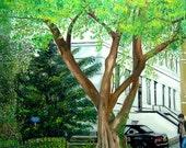 Tree Painting - Dutch Park Painting - Original Oil Painting - Dutch Painting - Dutch Tree Painting - Netherlands Tree Oil Painting
