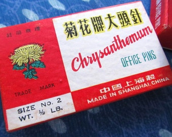 vintage STICK PINS --Chrysanthemum (Chinese) lot of 4 boxes, total of 1/2 pound