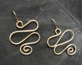 Gold Filled Wire Wrapped Wave Earrings