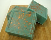 Heathcliff and Cathy Luxury Goats Milk Soap - Wuthering Heights - spring rain, sweet wood, green grass - 4 oz.