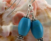 Turquoise Howlite and Sterling Earrings