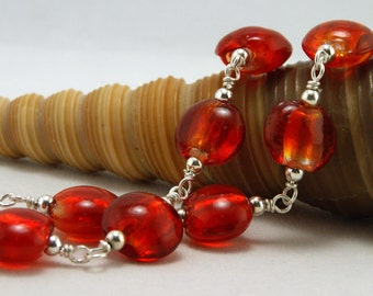Red Hot Glass Necklace