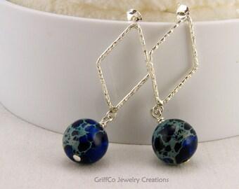 Blue Impression Jasper Earrings IV