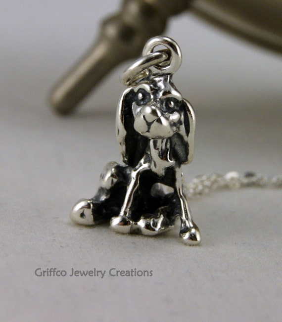 Sterling Cocker Spaniel Charm Necklace