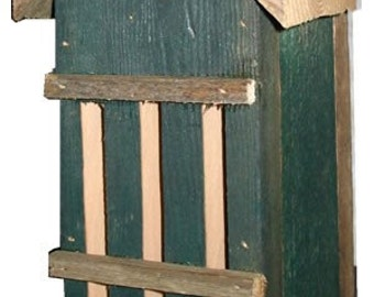 Rustic Green Butterfly House-Recycled Materials