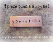 metal steel jewelry stamps - PUNCTUATION SeT - 9 pieces AFFORDABLE choose your SIZE