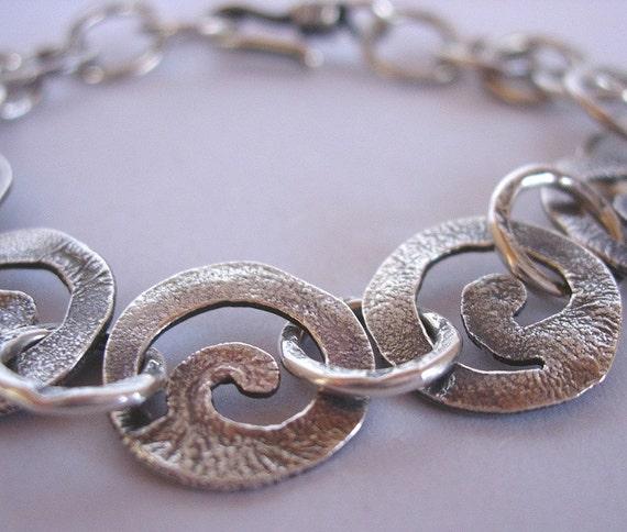 5 Spiral Silver Link Bracelet
