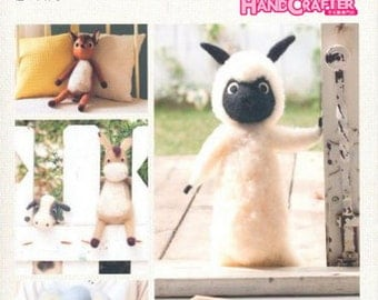 Wool felt a large collection of cute forest animals --- Japanese Craft Book