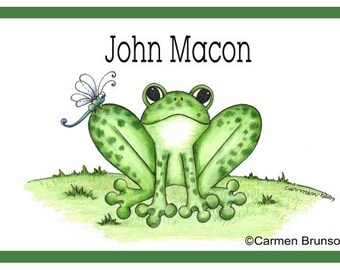 Personalized Laminate Placemat Frog, Custom, Room Decor, birthday gift, party favor, kitchen placemat