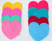 24 Piece Die Cut Felt Big Hearts- For Valentine Day DIY Kit